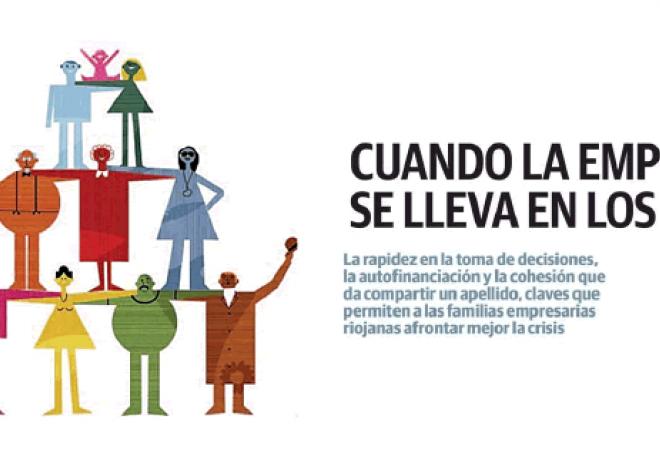 """Artículo periódico La Rioja """"CUANDO LA EMPRESA SE LLEVA EN LOS GENES"""""""